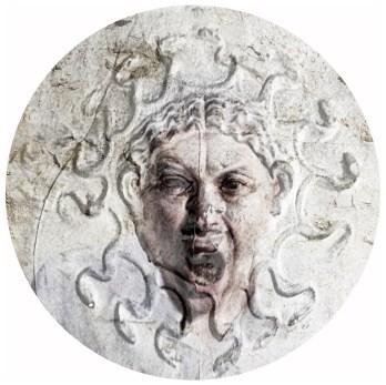 2018-Méduse & Cie 01, impression digitale sur aluminium, diamètre 85 cm.