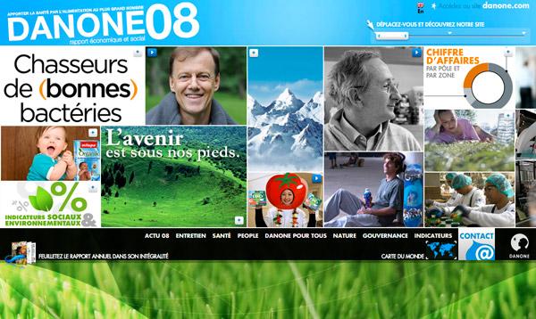 rapport annuel interactif Danone 2008