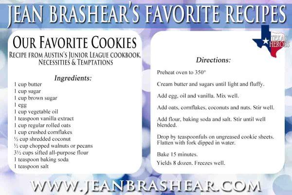 Our Favorite Cookies Recipe by Jean Brashear