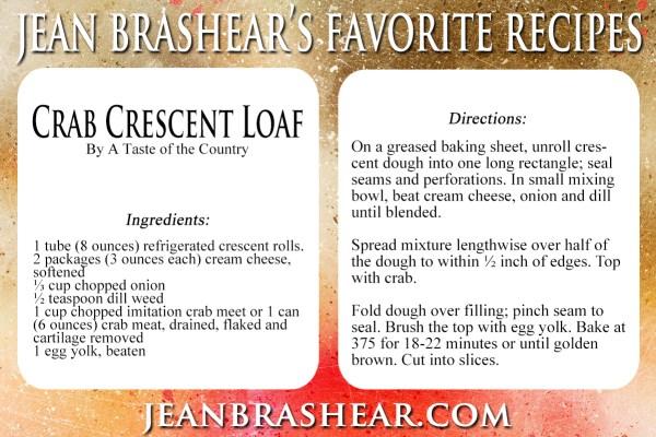 Crab Crescent Loaf Recipe by Jean Brashear
