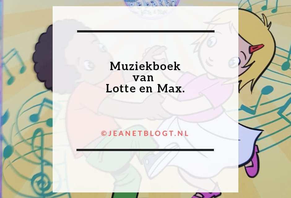 Muziekboek van Lotte en Max.