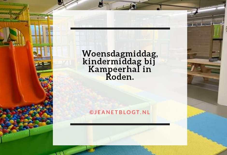 Woensdagmiddag, kindermiddag bij Kampeerhal in Roden.