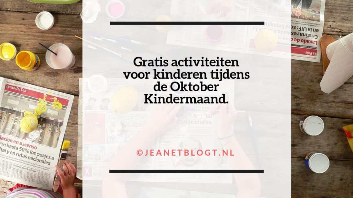 Oktober Kindermaand, gratis activiteiten voor kinderen.