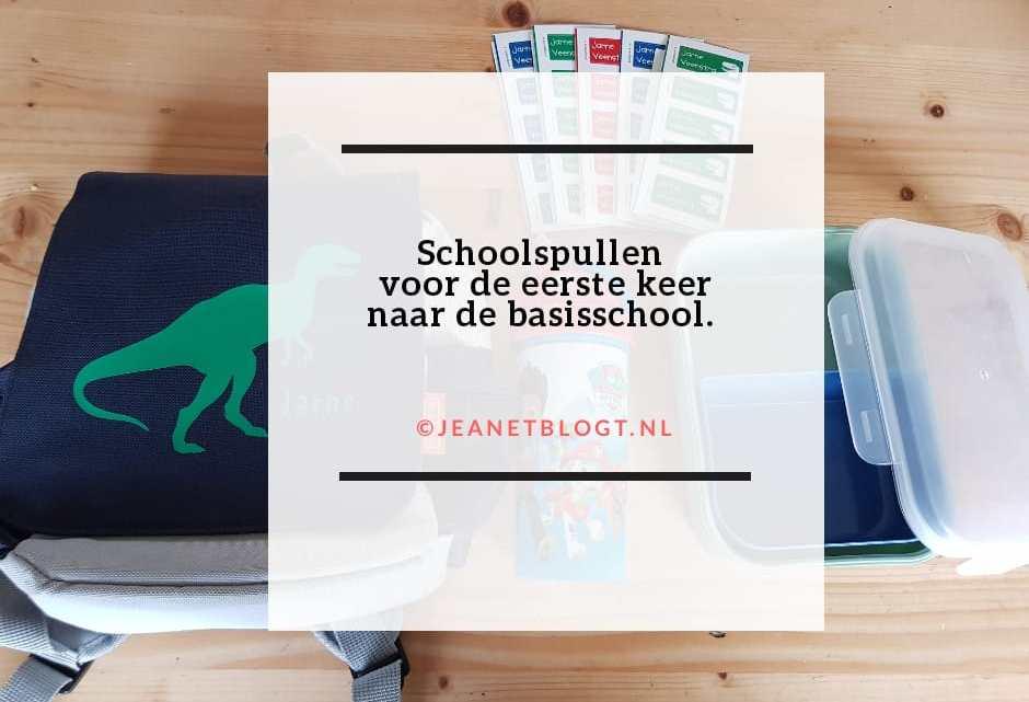 Schoolspullen voor de eerste keer naar de basisschool.