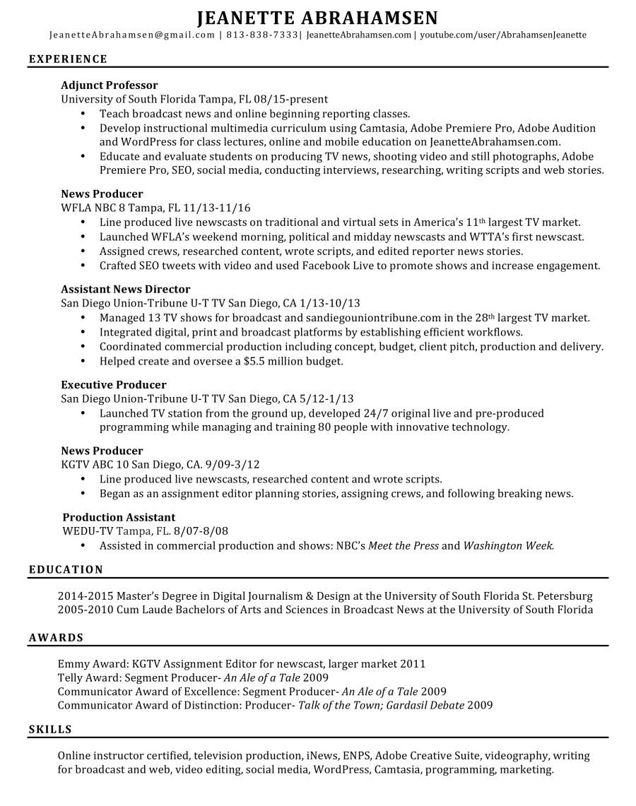 jeanette-abrahamsen-resume