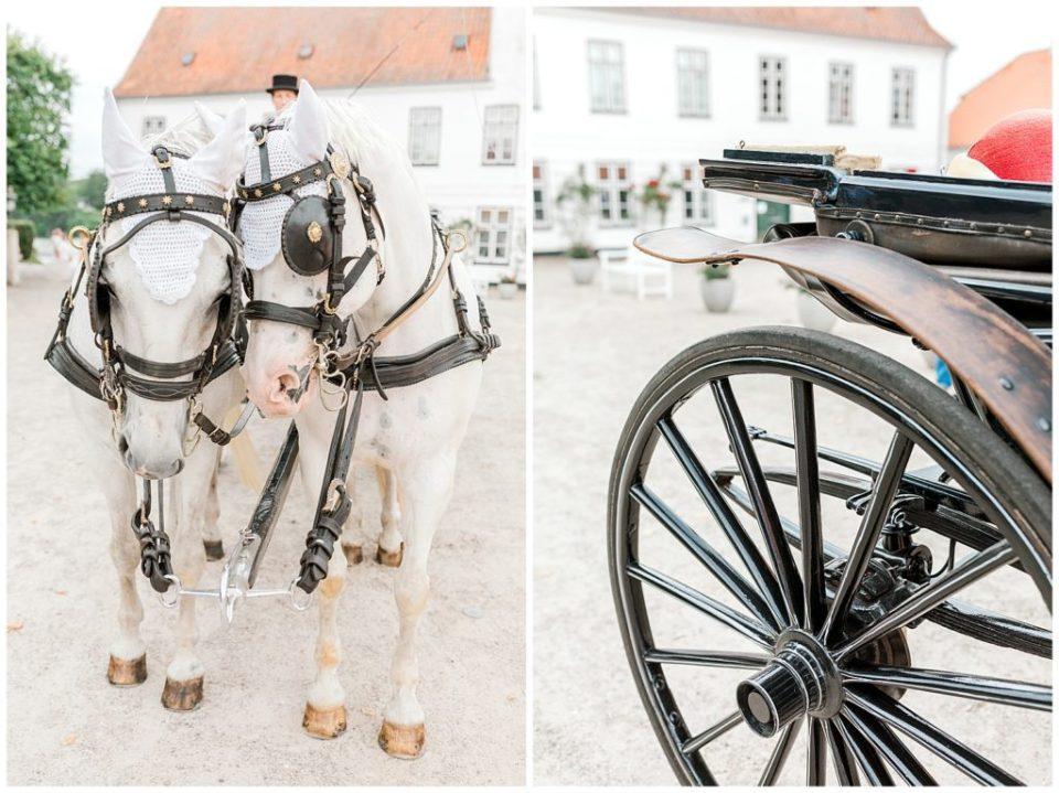 billede af hestevogn ved bryllup i nordtyskland ved glücksburg slot til bryllupsinspiration for bruden og gommen taget af aarhus bryllupsfotograf jeanette merstrand