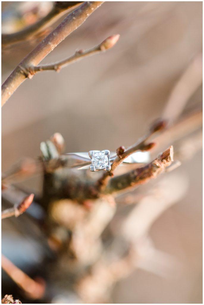vinter forlovelsesbilleder ved sct Bendts kirke i ringsted taget af bryllupsfotograf jeanette merstrand