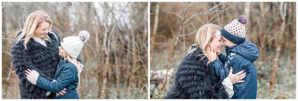 familiebilleder i skoven af fotograf jeanette merstrand