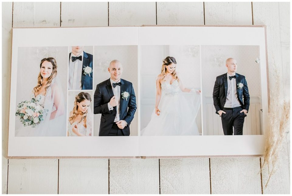 bryllupsbilleder i bryllupsalbum taget af bryllupsfotograf