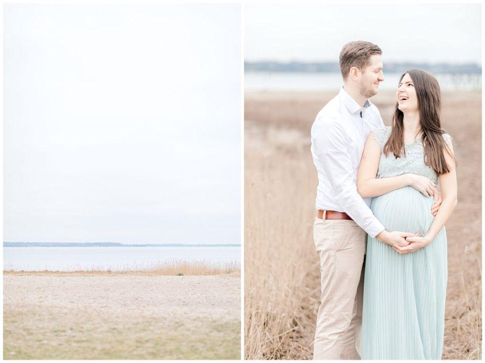 graviditetsbilleder på stranden