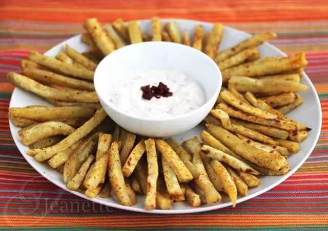 Chili Spiced Sweet Potato Fries with Chipotle Yogurt Dip