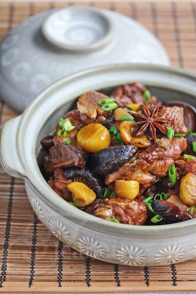 Chinese Braised Chicken with Chestnuts Recipe - Jeanette's ...