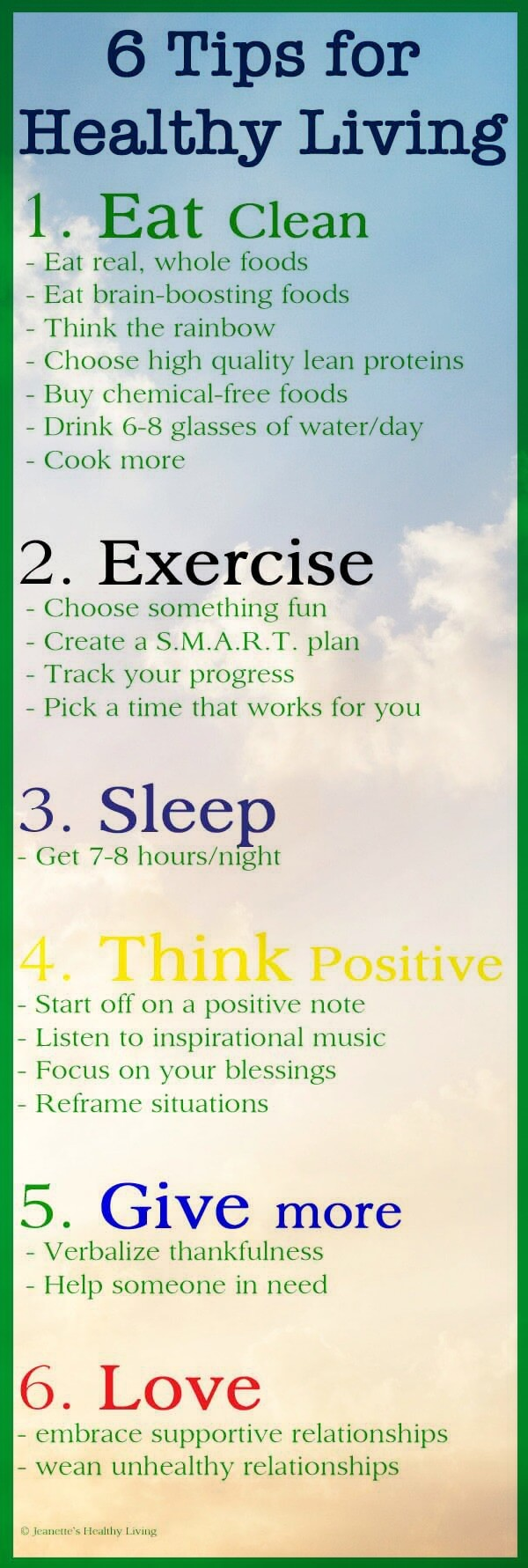 Healthy Living Tips