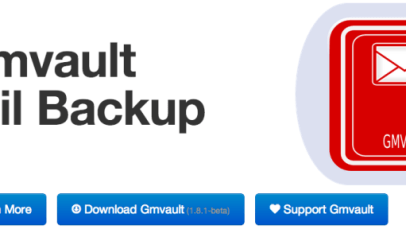 Backup gmail on the mac app store.