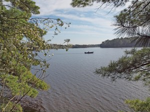 1564-acre Minong Flowage, one of NW Wisconsin's most popular fishing and recreation lakes