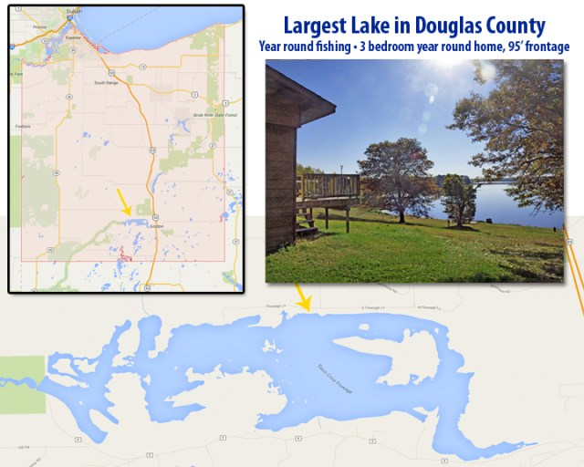 1913-acre St Croix Flowage is largest lake in Douglas County WI