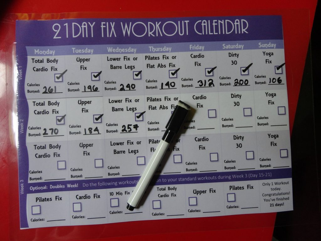 21 Day Fix Workout Routine How Many Calories Do I Burn