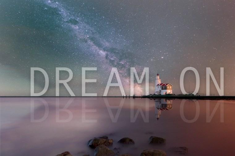 marken, droomwereld, bewerkt, dream on