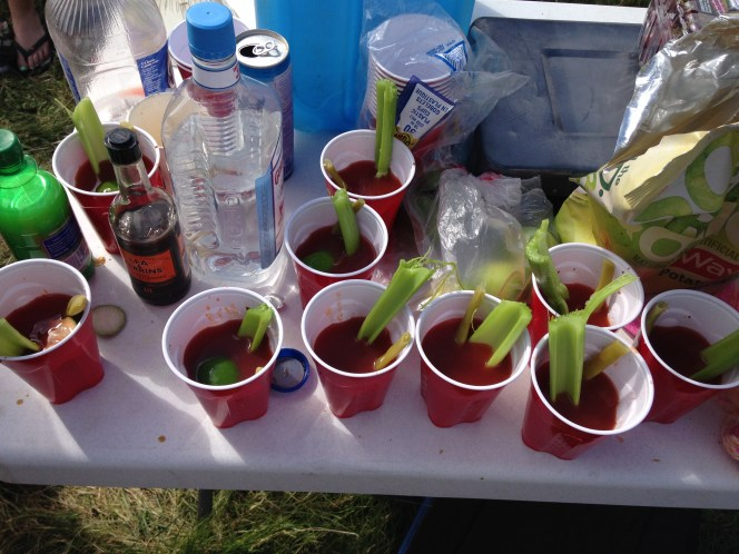 warm tequila caesars from sasquatch last summer