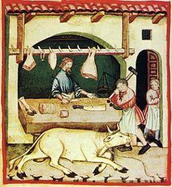 Boucher au Moyen Âge
