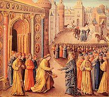 Raimond de Poitier accueillant Louis VII à Antioche.