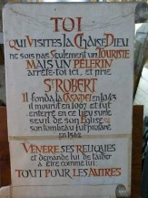 Tombe de Saint Robert