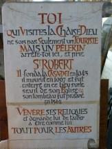 Tombe de Saint Robert