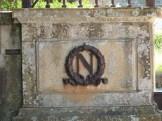 Emblêmes impériaux sur le portail