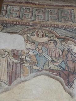 Fresque du martyre de Saint Romain d'Antioche