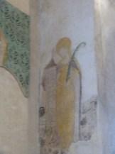 Fresque représentant Saint Barbe