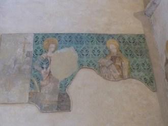 Fresques de Marie-Madeleine et de Sainte Catherine d'Alexandrie
