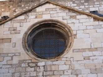 Façade de l'ancien mur romain
