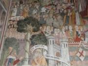 Fresques sur le mur d'entrée