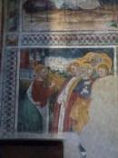 Fresques du chevet, Assomption de Marie, en-dessius à gauche, Incrédulité de Thomas, à droite, visite au tombeau