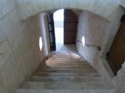 Le dortoir, escaliers donnant accès au cloître