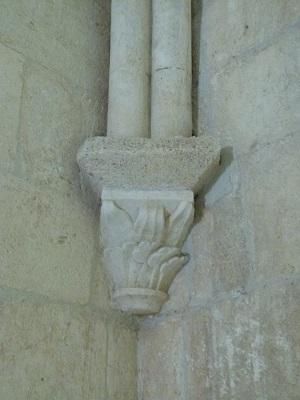 Salle capitulaire, support de voûte décorés