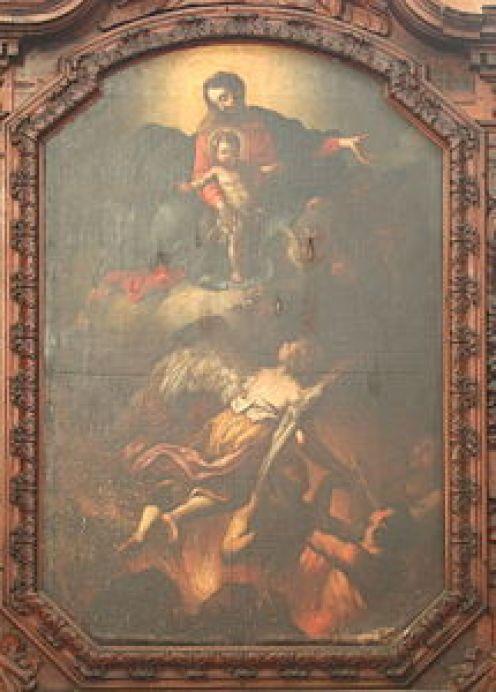 La Vierge à l'Enfant et le purgatoire.