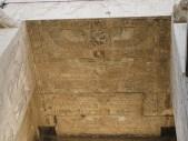Plafond de la porte d'entrée du temple