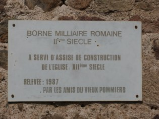 Borne milliaire romaine 2ème siècle