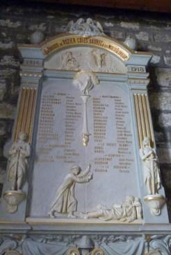 Plaque commémoratives des morts de la Grande Guerre