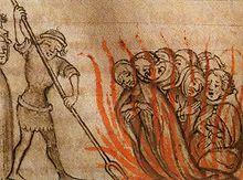 Templiers sur le bûcher
