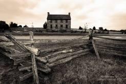 Maison de Pierre vue sur le jardin deuxième bataille de manassas le 29-30 août 1862