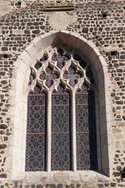 Vitrail extérieur de l'église