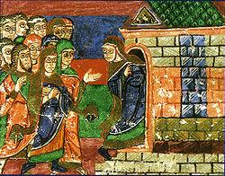 Vie de sainte Radegonde, XIe siècle. Bibliothèque municipale de Poitiers.1