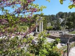 Glanum - le temple géminé en fond de tableau