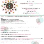 I Want To Be Part of Sample Room's Bloggers Circle!