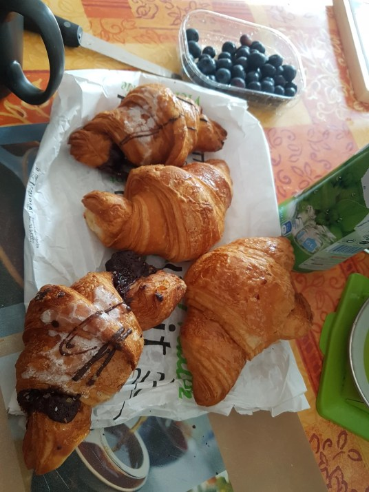nutella croissant is one of good things you can get in Strasbourg.