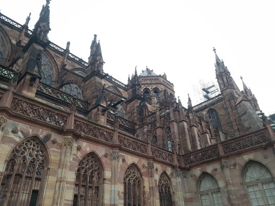 Cathedral Strasbourg from the side.