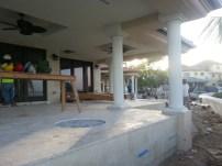 Cayman island covered terrace