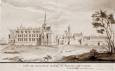 Château de Plessis lez Tours planned architecture
